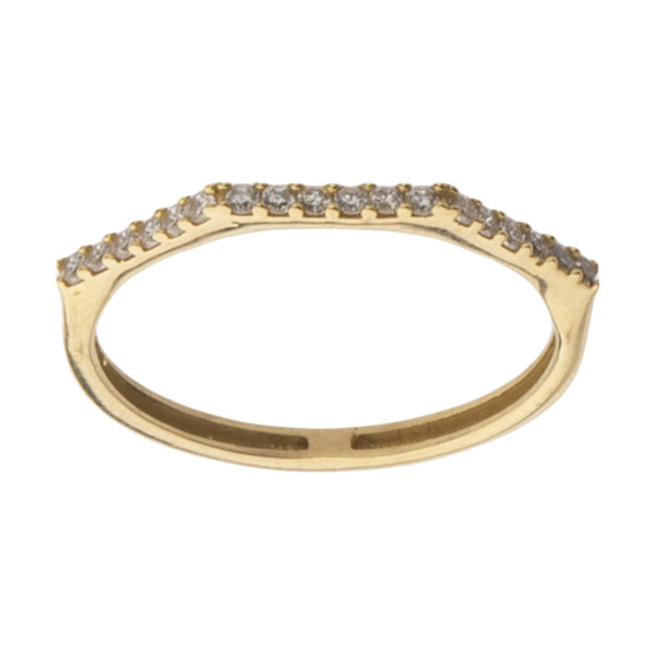 انگشتر طلا 18 عیار زنانه میو گلد مدل GD1140-55