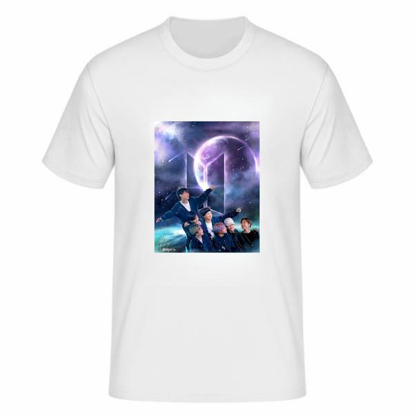 تی شرت آستین کوتاه زنانه مدل بی تی اس tme260