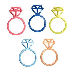 انگشتر دخترانه کد 3DTY01 مجموعه پنج عددی