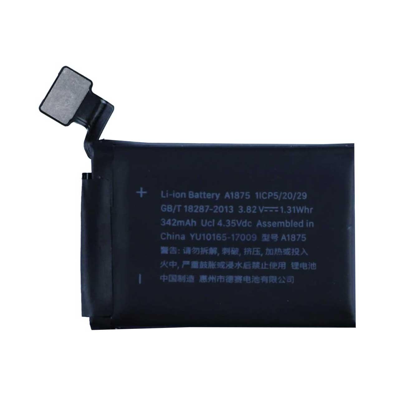 باتری مدل A1875 ظرفیت 342 میلی آمپر ساعت مناسب برای اپل واچ 42 میلی متری