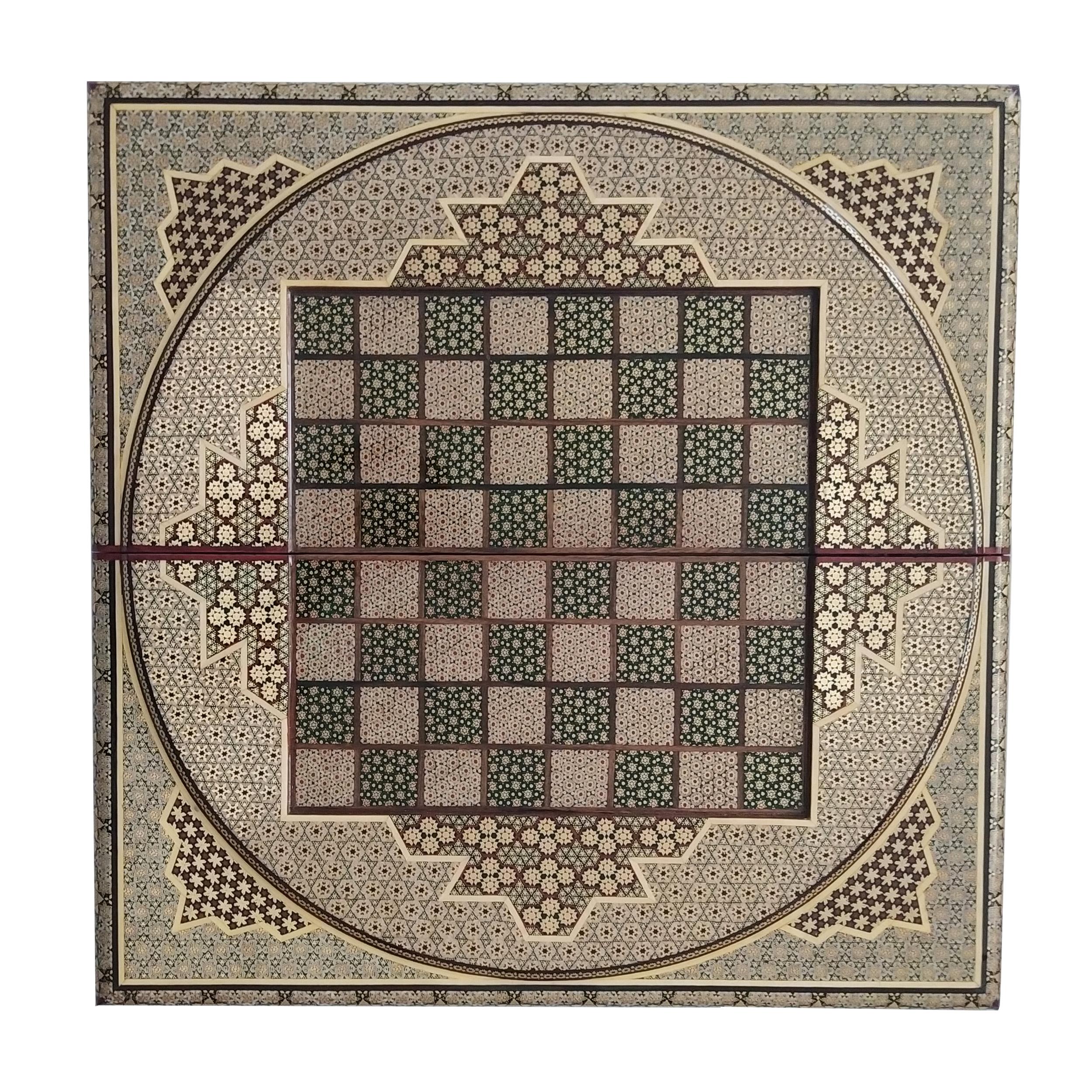 صفحه شطرنج خاتم کاری مدل گیتی کد 5050