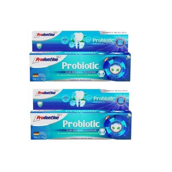 خمیر دندان پرودنتین مدل Probiotic حجم 150 میلی لیترمجموعه 2 عددی