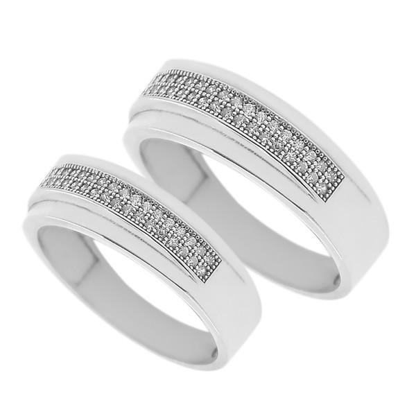 ست انگشتر نقره زنانه و مردانه مدل ghy32445