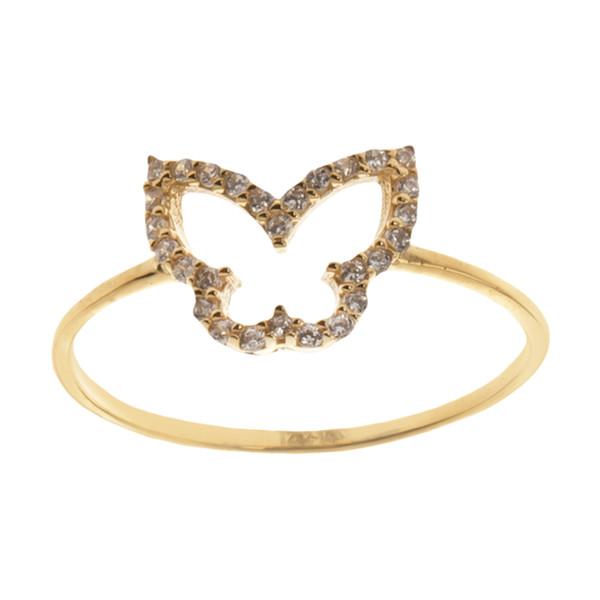انگشتر طلا 18 عیار زنانه مایا ماهک مدل MR0579