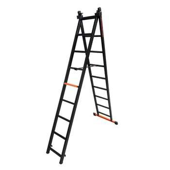 نردبان 18 پله مهرنگار مدل GALAXY به همراه پایه تعادل