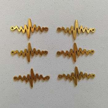 پلاک دستبند طرح ضربان کد HN1542 بسته 6 عددی