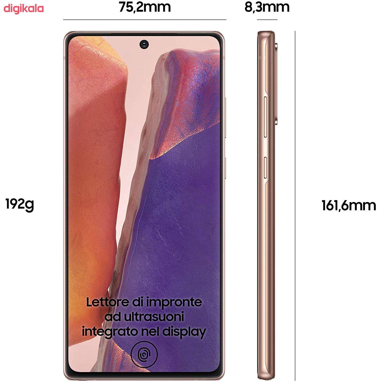 گوشی موبایل سامسونگ مدل Galaxy Note20 5G SM-N981B/DS دو سیم کارت ظرفیت 256 گیگابایت main 1 3