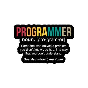 استیکر لپ تاپ لولو طرح معنی برنامه نویس کد 266