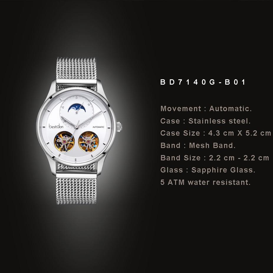 ساعت مچی عقربهای مردانه بستدون مدل BD7140G-B01