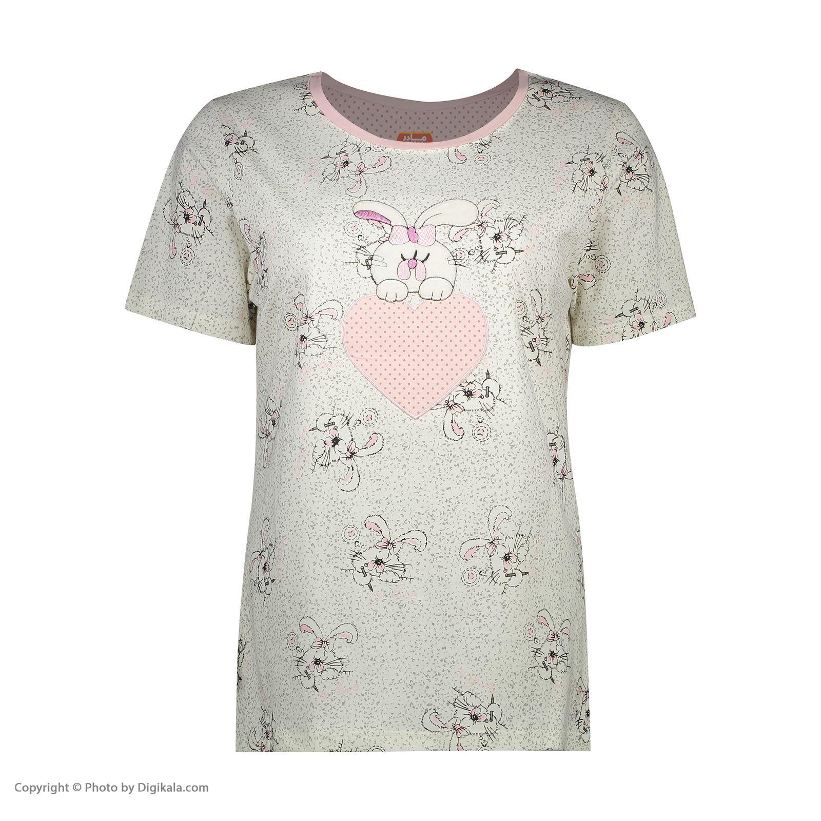 ست تی شرت و شلوارک راحتی زنانه مادر مدل 2041105-84 -  - 4