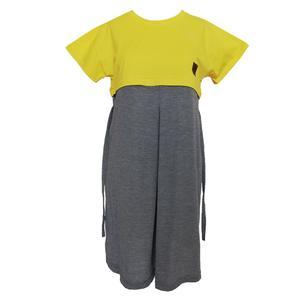 پیراهن بارداری کد 1100 رنگ لیمویی