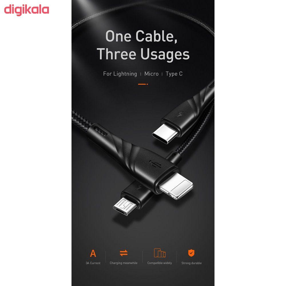 کابل تبدیل USB  به USB-C/microUSB/لایتنینگ مک دودو مدل CA-6450 طول 1.2 متر main 1 1
