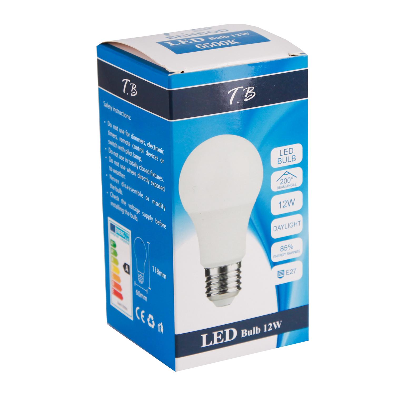 لامپ ال ای دی 12 وات بهبد مدل A60 پایه E27
