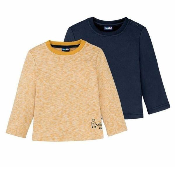 تی شرت آستین بلند پسرانه لوپیلو مدل 2 مجموعه 2 عددی