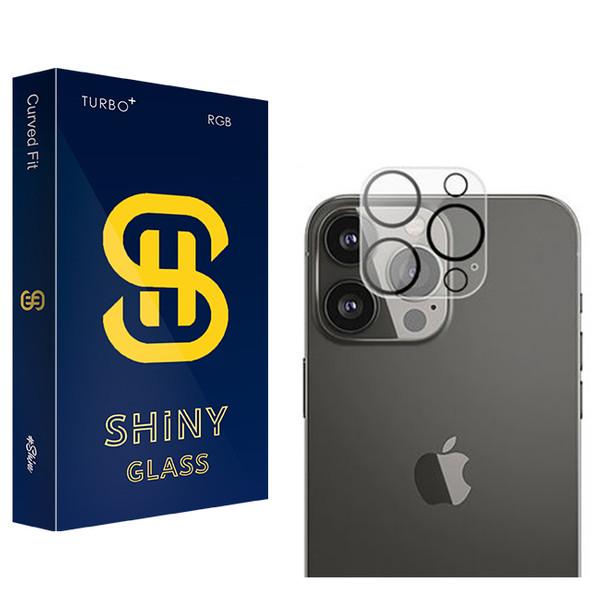 محافظ لنز دوربین شاینی مدل +TURBO مناسب برای گوشی موبایل اپل iPhone 13 Pro Max