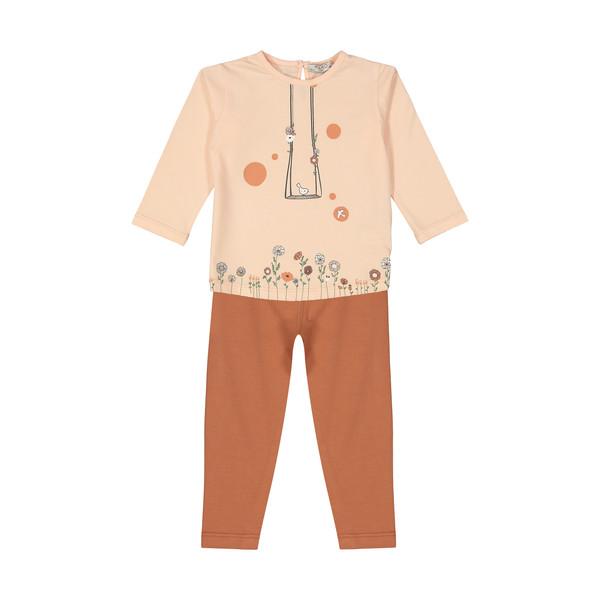 ست تی شرت و شلوار نوزادی دخترانه پیانو مدل 1009009801097-21