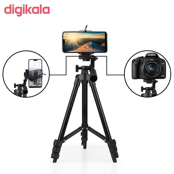 سه پایه دوربین نست مدل NT-510 به همراه گیره نگهدارنده موبایل main 1 7