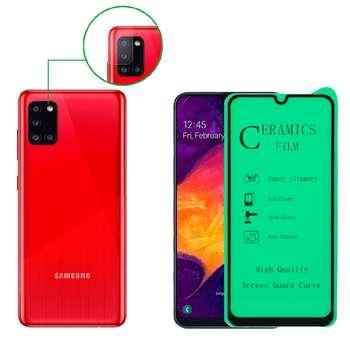 محافظ صفحه نمایش آواتار مدل CGGLNZ_A31_2 مناسب برای گوشی موبایل سامسونگ GALAXY A31 به همراه محافظ لنز دوربین