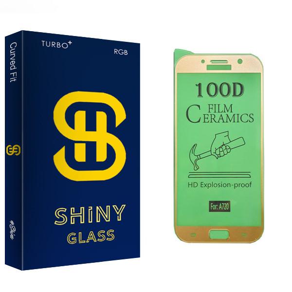 محافظ صفحه نمایش سرامیکی شاینی مدل RGB مناسب برای گوشی موبایل سامسونگ Galaxy A7 2017/ A720
