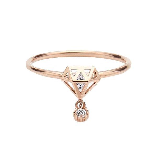 انگشتر طلا 18 عیار زنانه قیراط کد GH2233