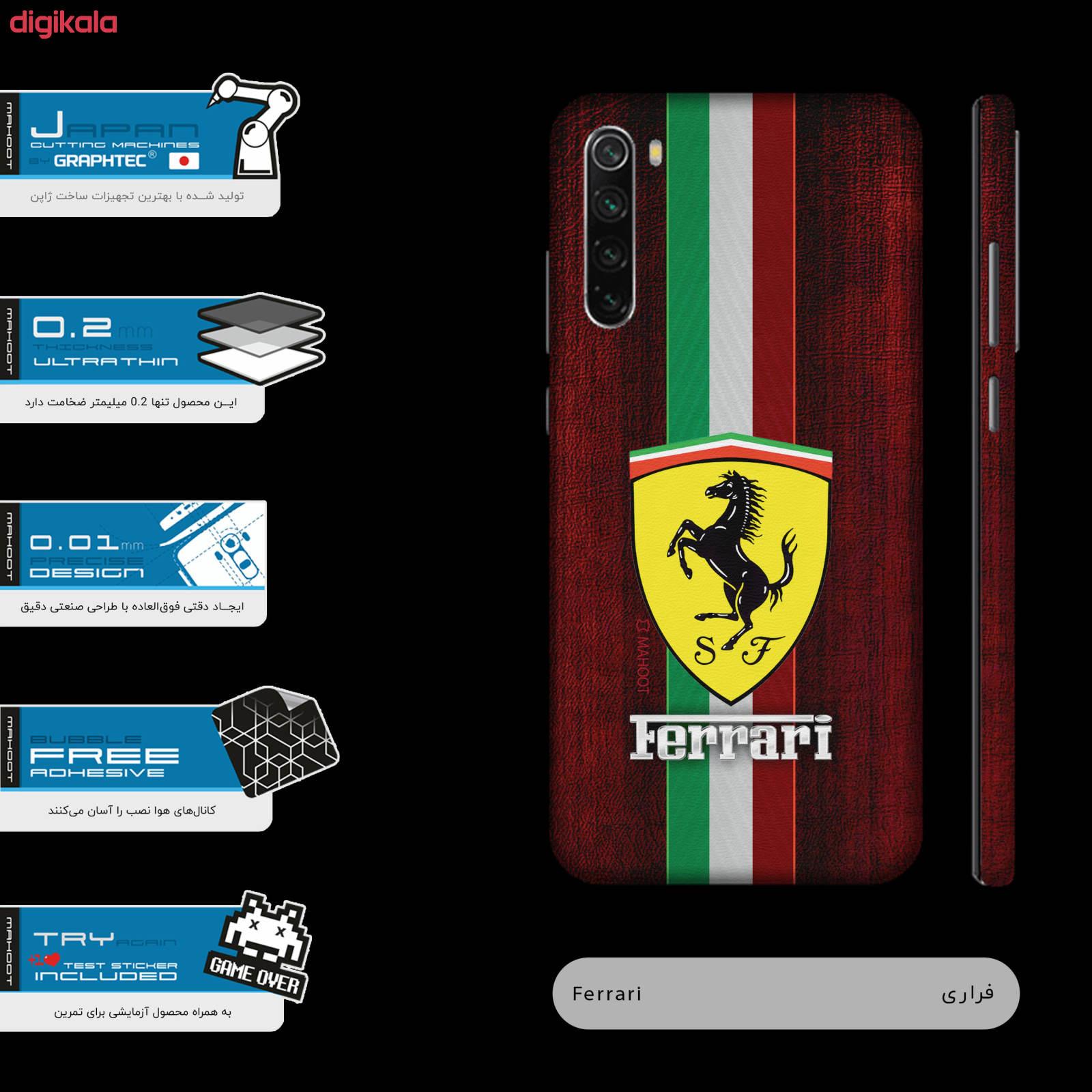 برچسب پوششی ماهوت مدل Ferrari-FullSkin  مناسب برای گوشی موبایل شیائومی Redmi Note 8T