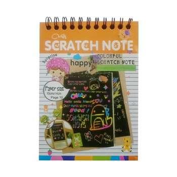 دفتر نقاشی مدل scratch note کد A6