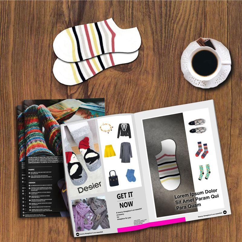 جوراب زنانه دیزر طرح راه راه کد fiory1076