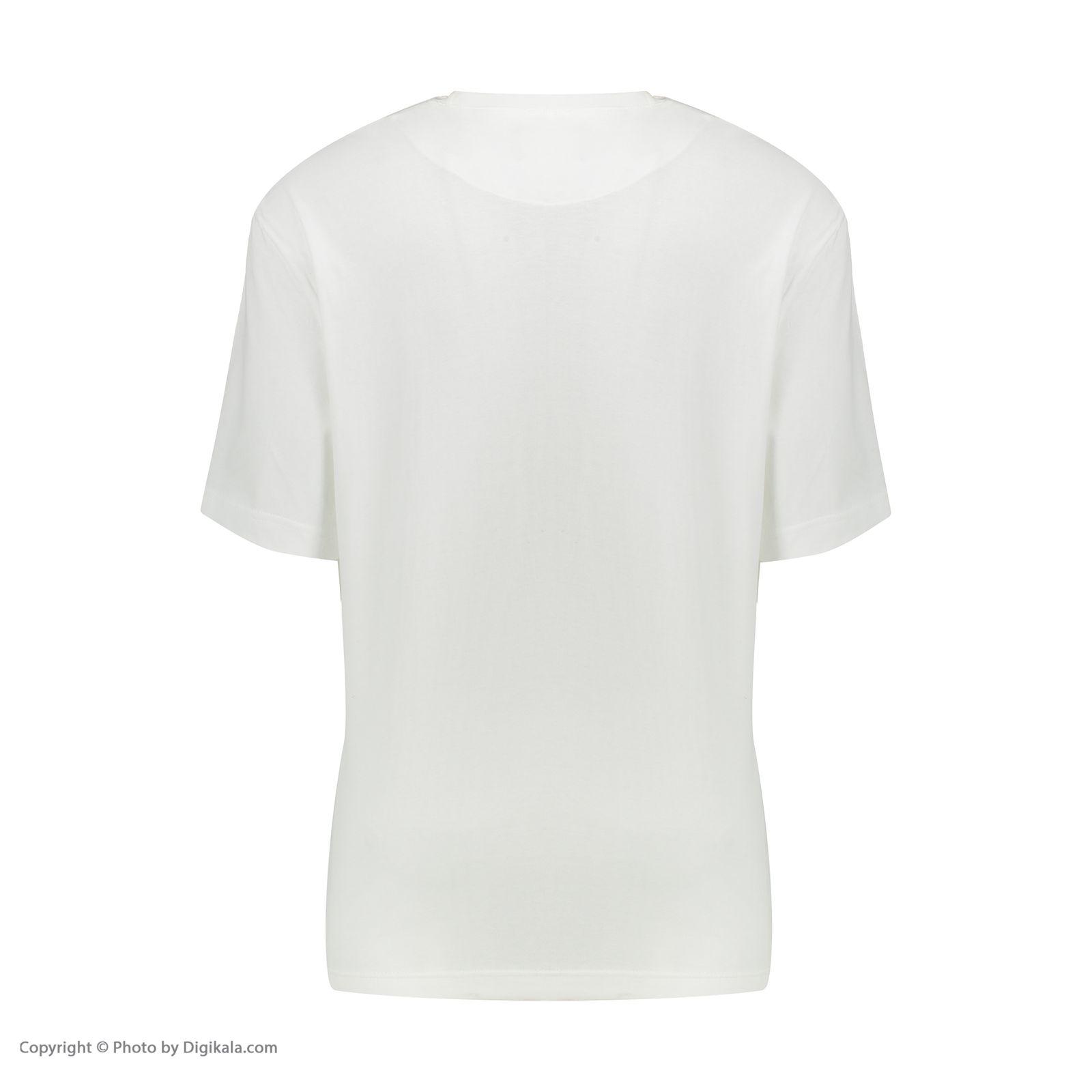 تیشرت آستین کوتاه مردانه گری مدل SEE THROUGH -  - 3