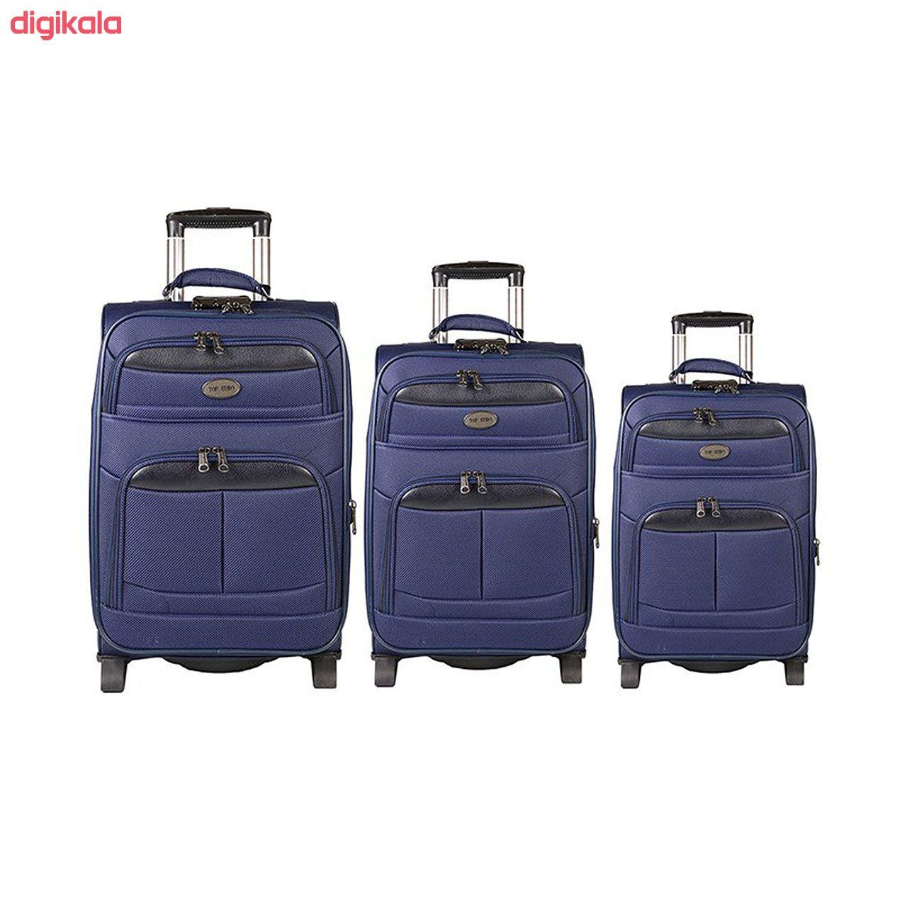 مجموعه سه عددی چمدان مدل تاپ یورو2 main 1 4