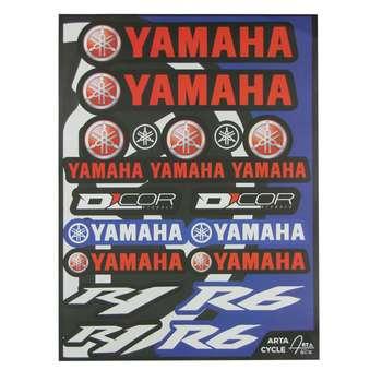 برچسب بدنه موتورسیکلت مدل YMA-R6