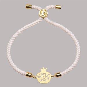 دستبند طلا 18 عیار دخترانه کرابو طرح جان و جهانی مدل Krd1350