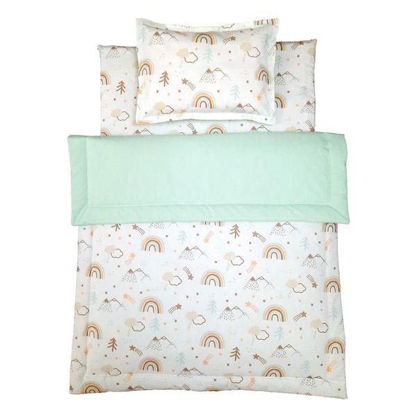 سرویس خواب 3 تکه نوزاد طرح رنگین کمان