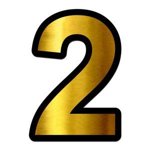 تابلو راهنما آژنگ طرح مستطیل مدل شماره و اعداد کد NO-2