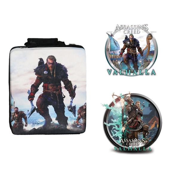بررسی و {خرید با تخفیف}                                     کیف حمل کنسول بازی پلی استیشن 4 مدل Assassin Creed به همراه برچسب کنسول بازی                             اصل