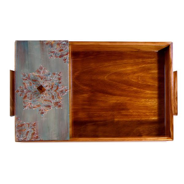 سینی پذیرایی درب دار مدل چوبی