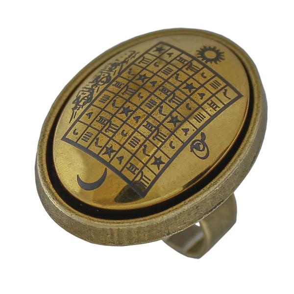 انگشتر طرحهفت شرف کد 0086