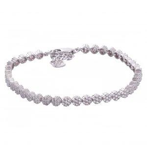 دستبند نقره زنانه مدل 12