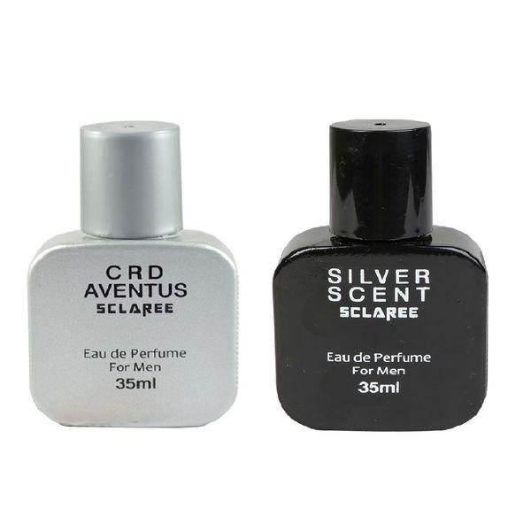 عطر جیبی مردانه اسکلاره مدل CRD Aventus حجم 35 میلی لیتر به همراه عطر جیبی مردانه مدل Silver Scent