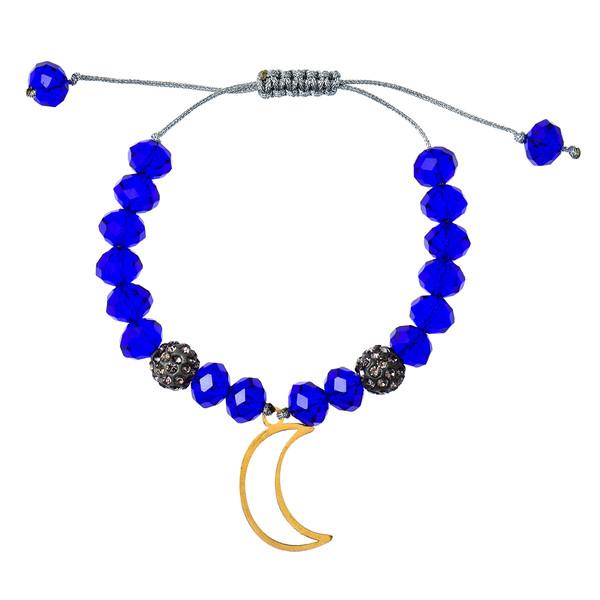 دستبند طلا 18 عیار دخترانه کرابو طرح ماه مدل Krd1028