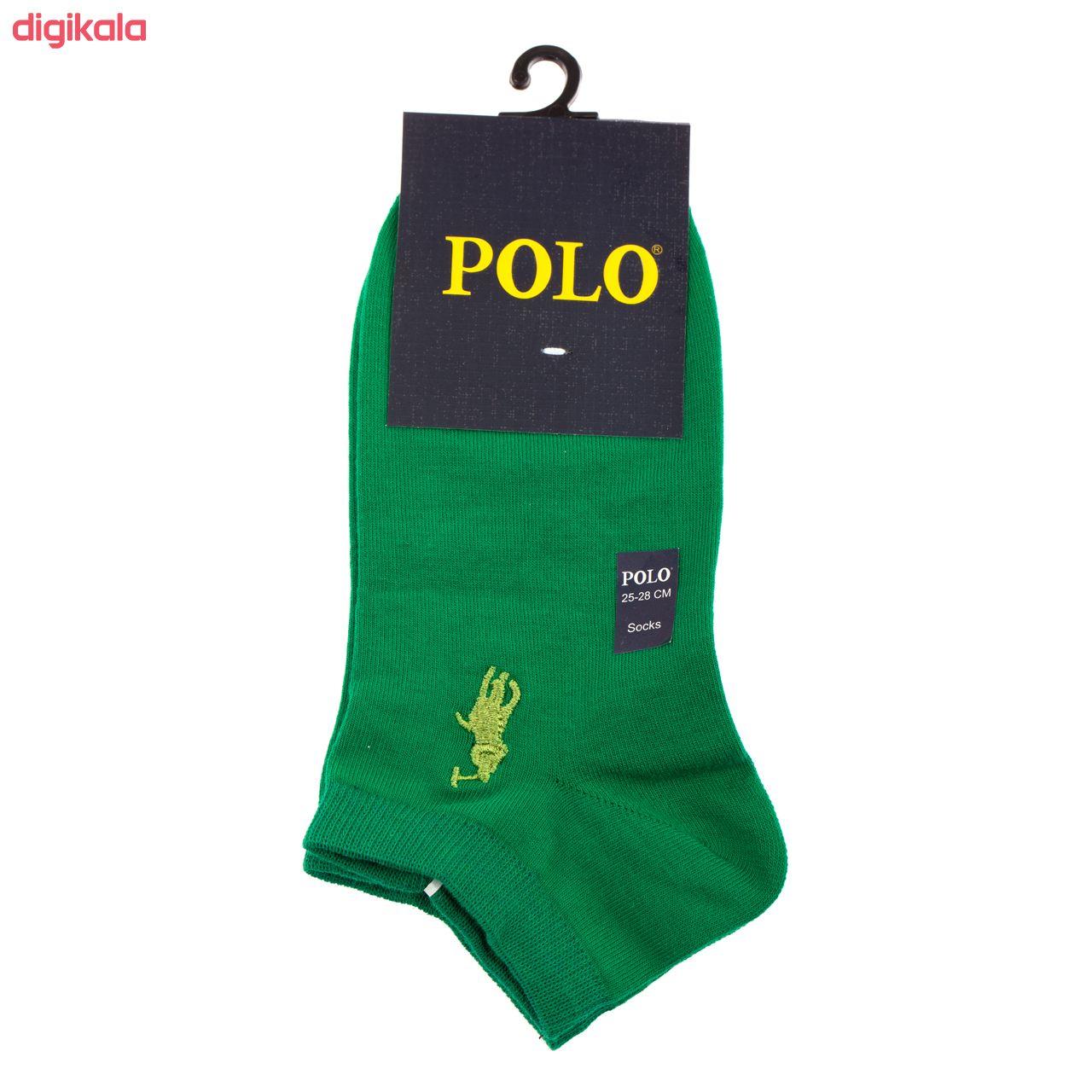 جوراب مردانه مدل P-2020 رنگ طوسی تیره main 1 1