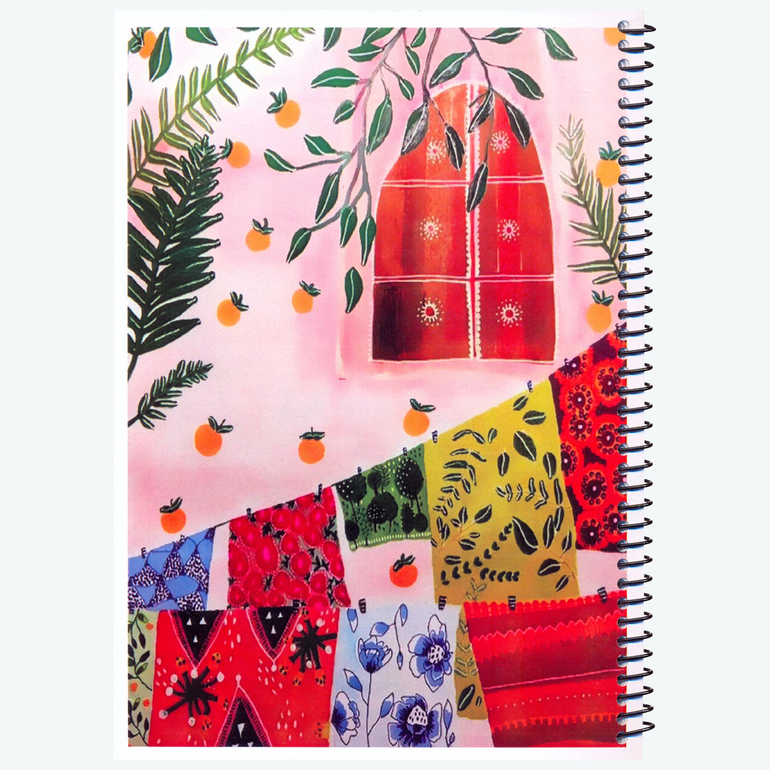 دفتر مشق ۱۰۰ برگ ژوست طرح حیاط خانه مدل کژوال کد ۰۱