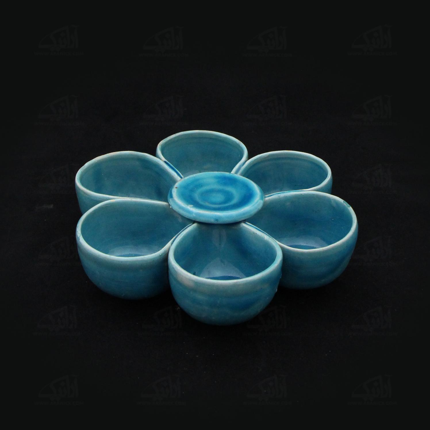 اردور خوری سفالی آرانیک  لعاب ساده رنگ آبی مدل 1001600002