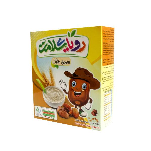 غلات صبحانه با میوه خشک شده خرما رویای سلامت  - 200 گرم