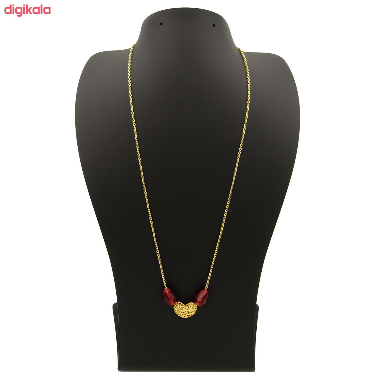 گردنبند طلا 18 عیار زنانه مانچو کد sfgs008 main 1 2