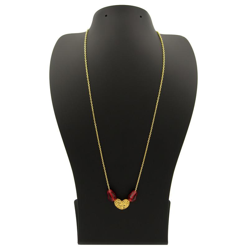 گردنبند طلا 18 عیار زنانه مانچو کد sfgs008