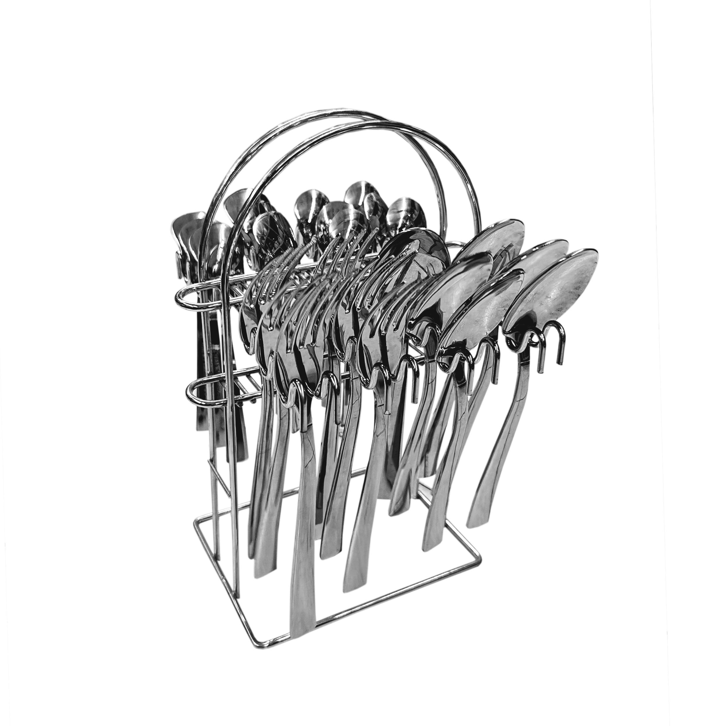 سرویس قاشق و چنگال 24 پارچه فلورانس مدل 001