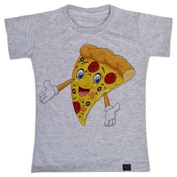 تصویر تی شرت آستین کوتاه دخترانه 27 مدل پیتزا کد T18