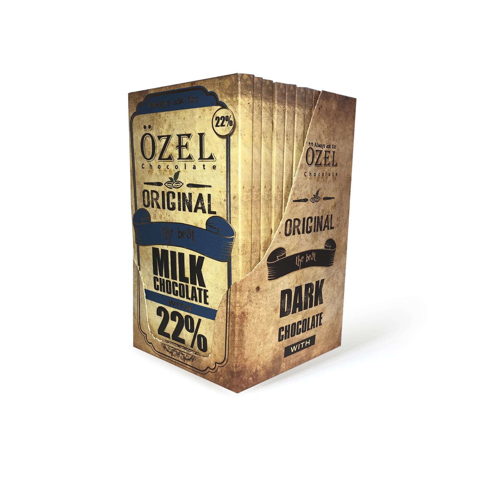 شکلات شیری 22 درصد کرال بسته 12 عددی
