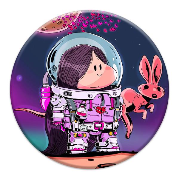 برچسب موبایل مدل Astronaut مناسب برای پایه نگهدارنده مغناطیسی