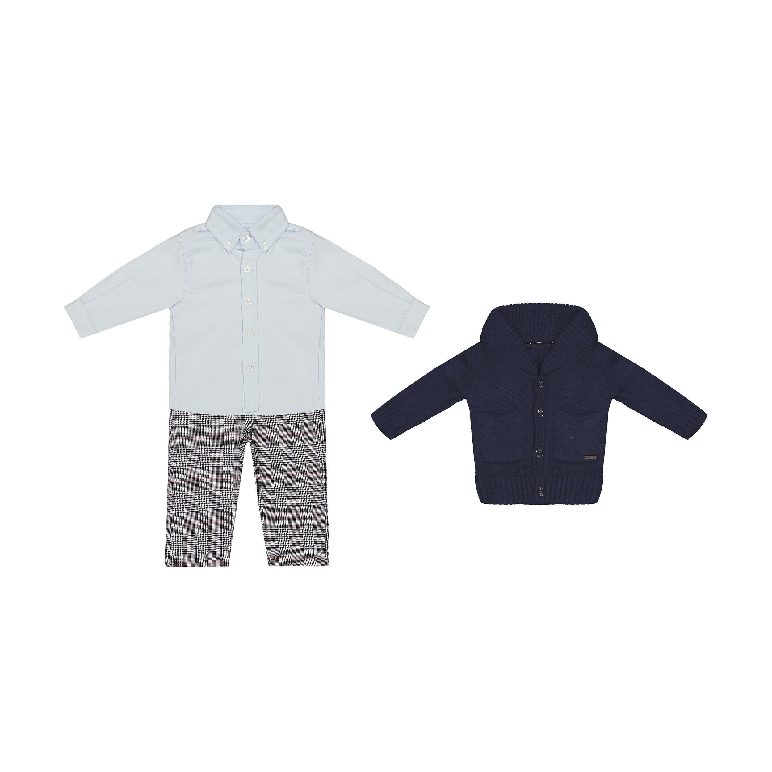 ست 3 تکه لباس نوزادی پسرانه مونا رزا مدل 2141150-59